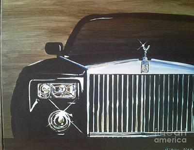 Par De Elegance Rolls Royce Phantom Art Print by Richard John Holden RA