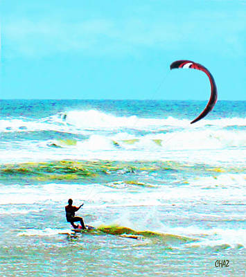 Para-surfer   Art Print