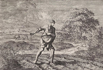 Parable Drawing - Parable Of The Sower And The Kingdom Of Heaven by Jan Luyken And Pieter Mortier
