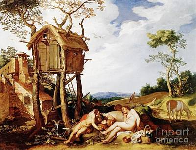 Abraham Painting - Parable Of The Tares by Abraham Bloemaert
