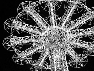 Photograph - 'parachute Jump Close-up' by Liza Dey