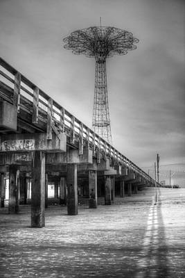 Photograph - Parachute Jump Coney Island by Dave Beckerman