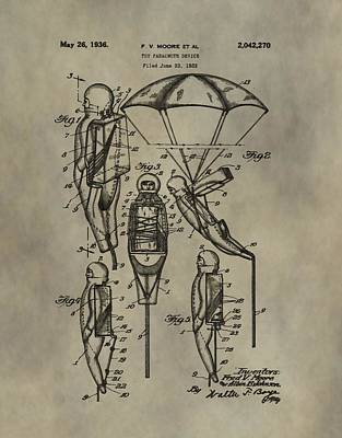 Toy Store Digital Art - Parachute Toy Patent by Dan Sproul