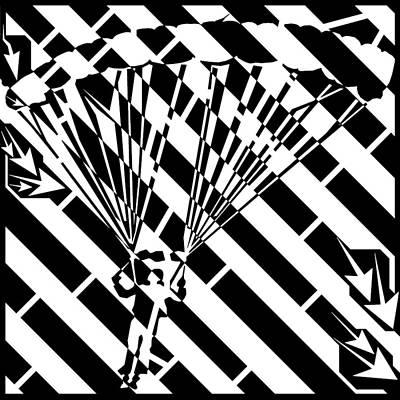 Sports Maze Drawing - Parachuters Descent Maze  by Yonatan Frimer Maze Artist