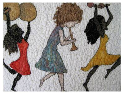 Needle Felting Tapestry - Textile - Parade  by Bonnie Nash