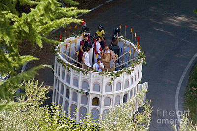 Parade Float Photograph - Parade Float, Umbria, Italy by Tim Holt