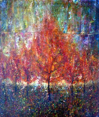 Tree Painting - Parade II by Wojtek Kowalski