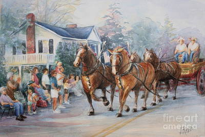 July 4th Painting - Parade by Linda Hall