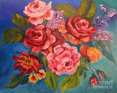 Parade Of Roses 11 Art Print