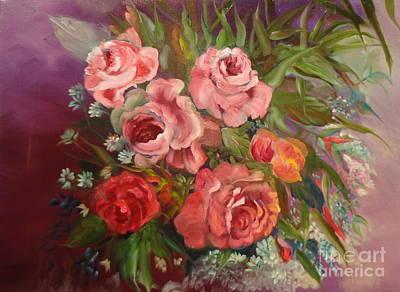 Parade Of Roses Art Print