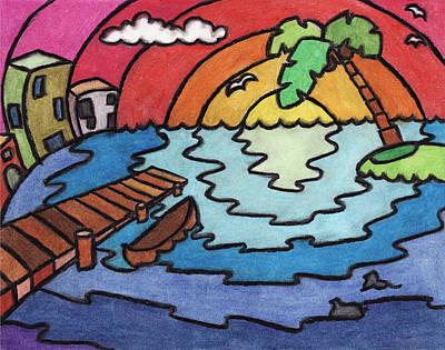 Paradise Art Print by Ashley King