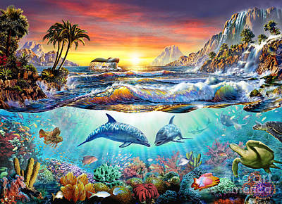 Vitality Digital Art - Paradise Bay by Adrian Chesterman