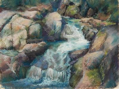 Pastel - Paradise Creek Mt Rainer by Marlene Kingman