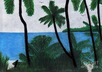 Drawing - Beach - Beauty by D Hackett