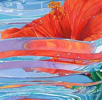 Colored Pencil Abstract Painting - Paradise Dreams by Arlene Steinberg
