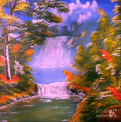 Caribbean Painting - Paradise Falls by Collin A Clarke