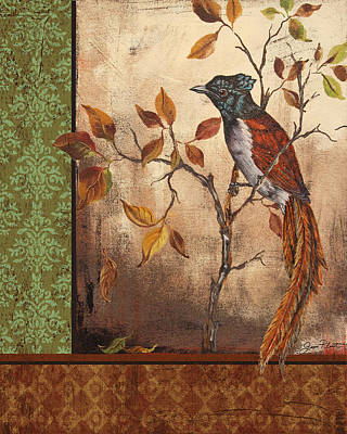 Flycatcher Painting - Paradise Flycatcher by Jean Plout