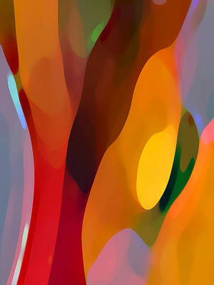Abstract Pattern Painting - Paradise Found 3 Tall by Amy Vangsgard