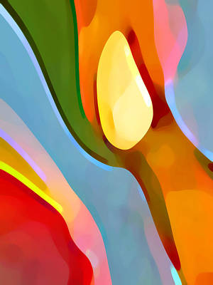 Abstract Movement Digital Art - Paradise Found 6 by Amy Vangsgard