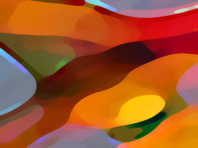 Abstract Landscape Digital Art - Paradise Found by Amy Vangsgard