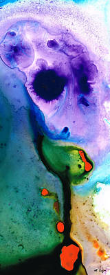 Paradise Found - Colorful Abstract Painting Art Print by Sharon Cummings