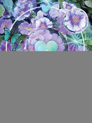 Paradise Garden Heart Print by Alixandra Mullins
