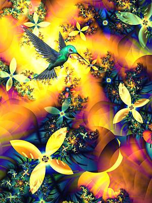 Hummingbird Mixed Media - Paradise Lost by Sharon Lisa Clarke