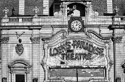 Photograph - Paradise Movie Theatre by Dave Beckerman