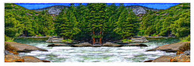 Rill Painting - Paradise On The River by Bruce Nutting