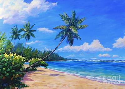 Paradise Palms Art Print by John Clark