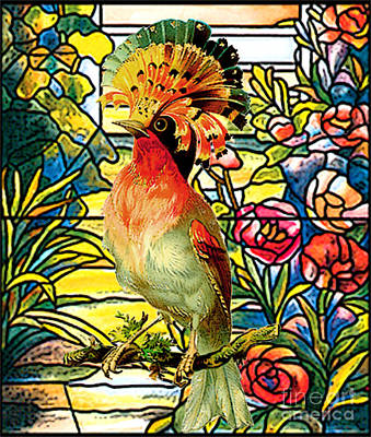 Tropical Colors Stain Glass Mixed Media - Paradise Perch by Tammera Malicki-Wong