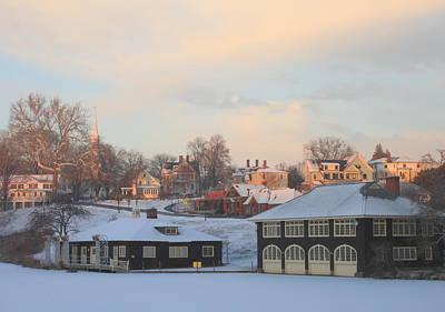 Rusty Trucks - Paradise Pond Smith College Winter by John Burk