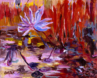 Lilly Pond Painting - Paradise by Sally Porter