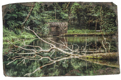 Stone Buildings Photograph - Paradise Springs Spring House by Jennifer Rondinelli Reilly - Fine Art Photography