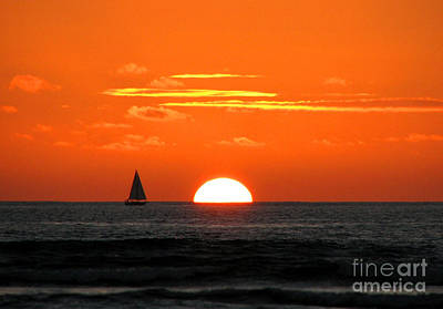Paradise Sunset Sail Art Print
