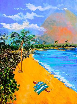 Boardroom Art Mixed Media - Paradise by Susan Robinson