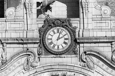 Photograph - Paradise Theater Clock Bronx by Dave Beckerman