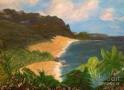 Print featuring the painting Paradise by Vanessa Palomino