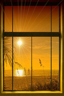Sunset Digital Art - Paradise View II by Melanie Viola