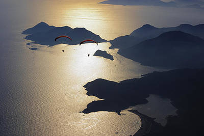 Photograph - Paragliders by Ali Kabas