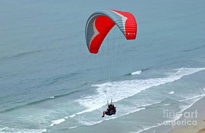 Paragliding At Torrey Pines Print by Anna Lisa Yoder