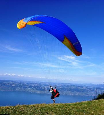 Photograph - Paragliding by Cristina Stefan