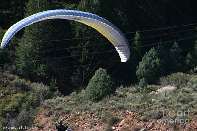 Photograph - Paragliding Hazards by Susan Herber