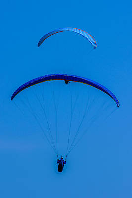 Photograph - Paragliding In Blue by Fabio Giannini