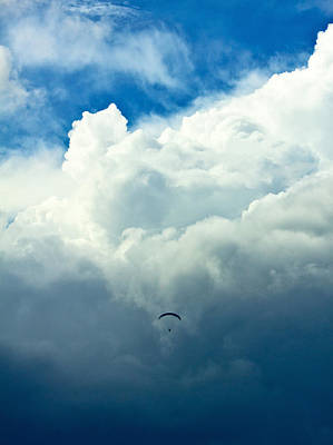 Photograph - Paragliding In Changing Weather by Viacheslav Savitskiy
