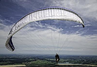 Paragliding  Print by Joanna Madloch