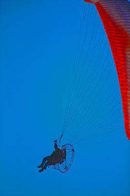Paragliding Art Print by Karol Livote