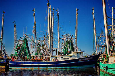 Photograph - Shrimp Boat - Dock - Parallel Parking Only by Barry Jones