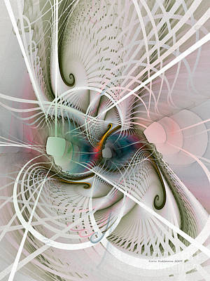 Fractal Geometry Digital Art - Parallel Worlds by Karin Kuhlmann
