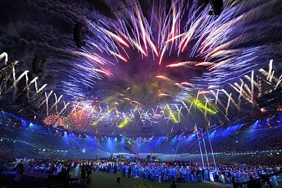 Fourteenth Photograph - Paralympics 2012 Closing Ceremony by Science Photo Library